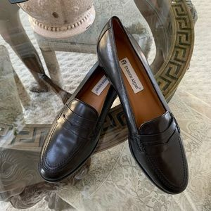 ETIENNE AIGNER MICHELE LEATHER LOAFER!🖤